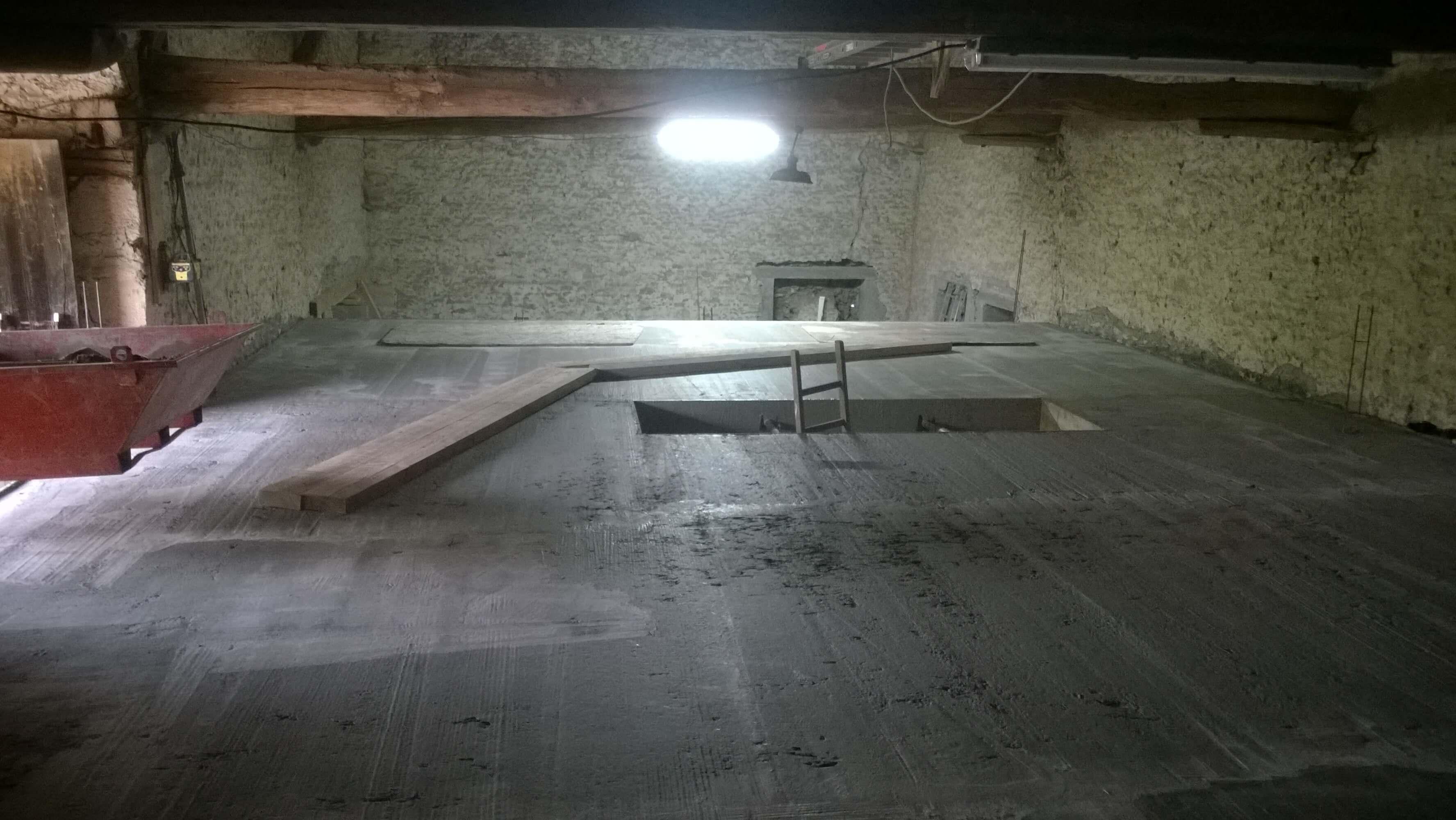 Réalisation d'un plancher en béton
