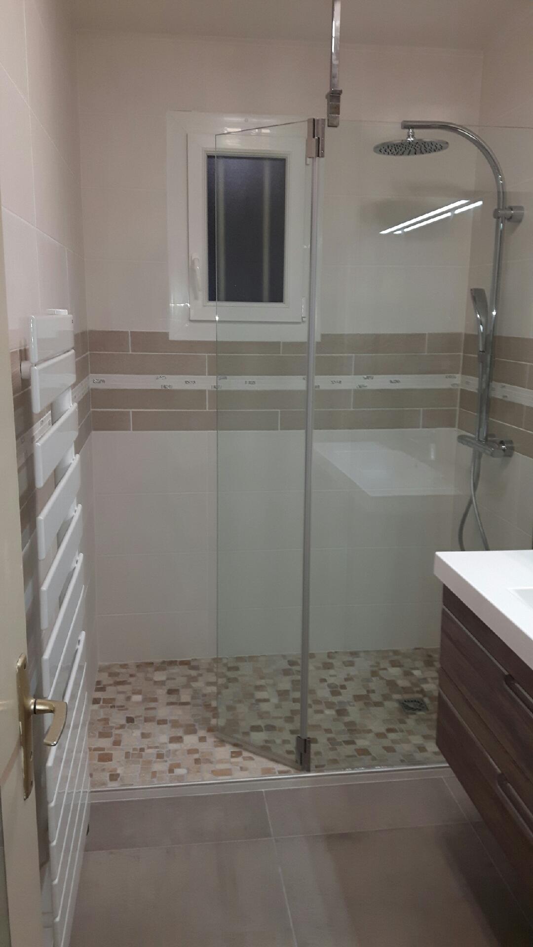 Carrelage et installation d'une douche